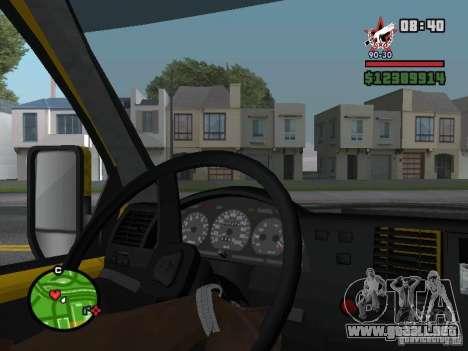 Tablero de instrumentos activo para GTA San Andreas segunda pantalla