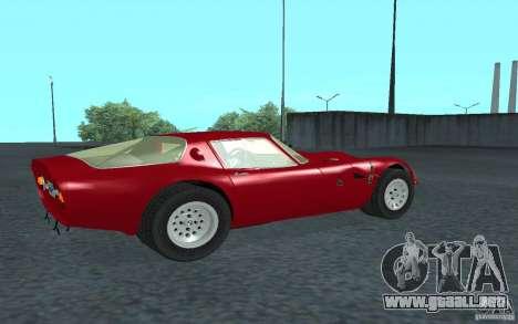 Alfa Romeo Gulia TZ2 1965 para GTA San Andreas vista posterior izquierda