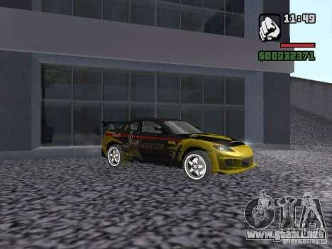Mazda RX-8 Rockstar para GTA San Andreas left