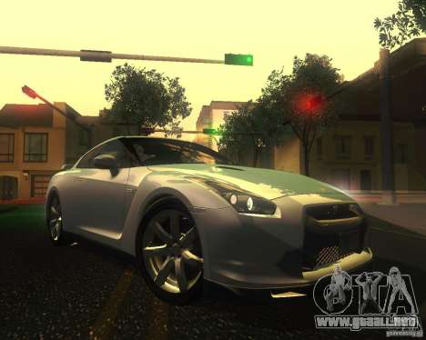 Nissan GTR R35 Spec-V 2010 Stock Wheels para vista inferior GTA San Andreas