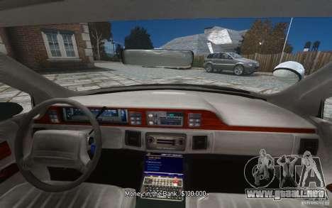 Chevrolet Caprice 1991 Police para GTA motor 4