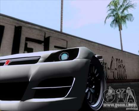 Saturn Sky Roadster para GTA San Andreas vista posterior izquierda