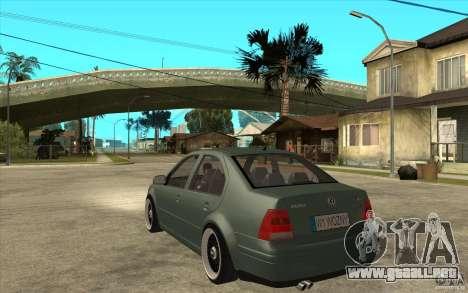 VW Bora para GTA San Andreas vista posterior izquierda