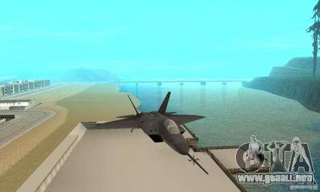 YF-22 Black para GTA San Andreas vista hacia atrás