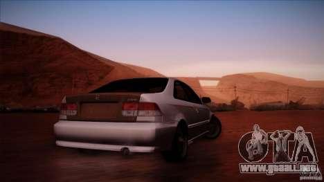 Honda Civic Coupe Si Coupe 1999 para la visión correcta GTA San Andreas