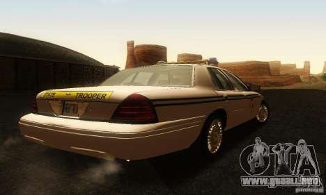 Ford Crown Victoria South Carolina Police para GTA San Andreas left
