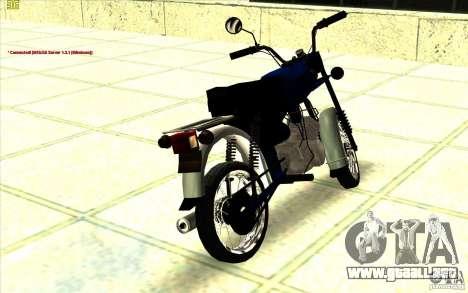 Ciclomotor: para GTA San Andreas left