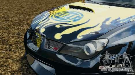 Subaru Impreza WRX STI N12 para GTA 4 vista lateral
