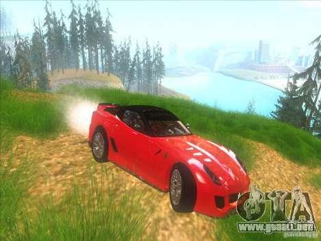 Ferrari 599XX para visión interna GTA San Andreas