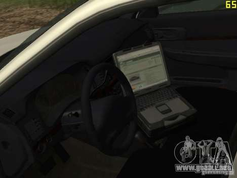 Policía de GTA 4 para GTA San Andreas vista hacia atrás