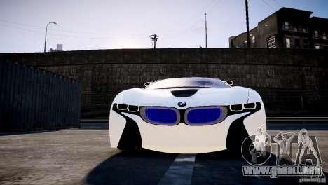 BMW Vision Efficient Dynamics 2012 para GTA 4 vista hacia atrás