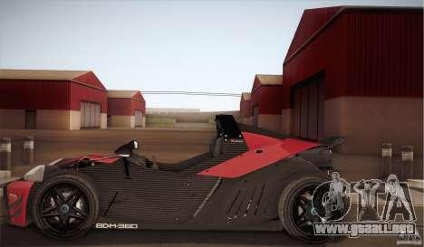 KTM-X-Bow para GTA San Andreas vista hacia atrás