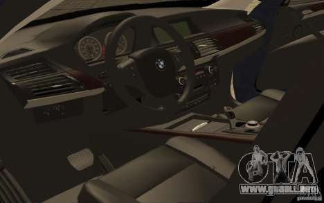 BMW X5 M 2009 para GTA San Andreas vista hacia atrás