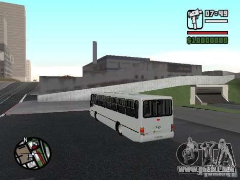 Busscar Urbanus SS Volvo B10M para GTA San Andreas vista posterior izquierda