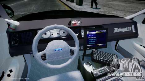 Ford Crown Victoria Massachusetts Police [ELS] para GTA 4 visión correcta