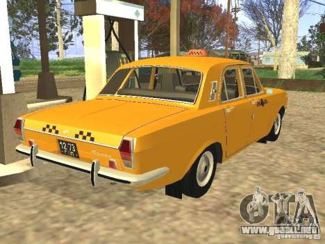 Taxi GAZ 24-01 para GTA San Andreas left