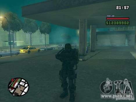 Acosador militar en èkzoskelete para GTA San Andreas segunda pantalla