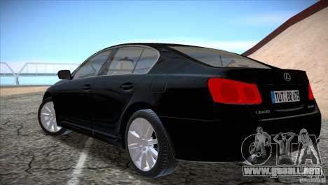 Lexus GS430 para la visión correcta GTA San Andreas