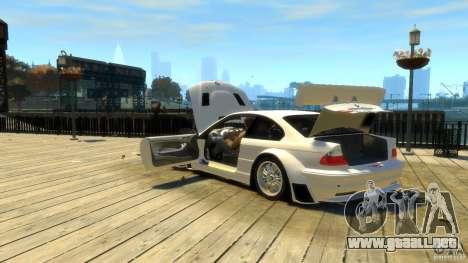 BMW E46 M3 GTR Sport para GTA 4 vista superior