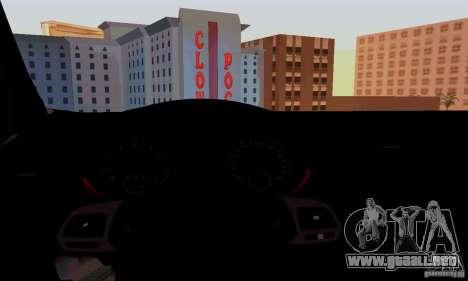 Volkswagen Golf GTI 2011 para visión interna GTA San Andreas