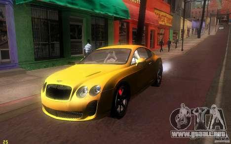 Bentley Continental SS para GTA San Andreas left