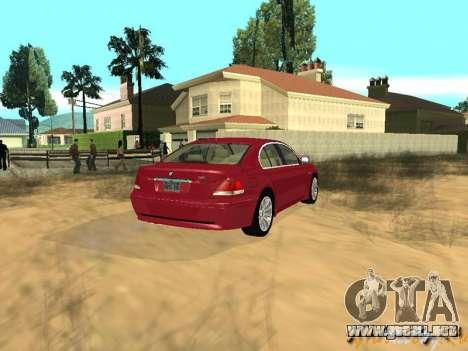 BMW 760I 2002 para visión interna GTA San Andreas