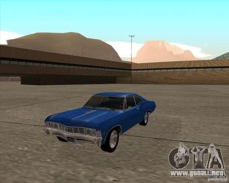 Chevrolet Impala 427 SS 1967 para la visión correcta GTA San Andreas