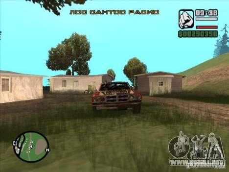 FlatOut bullet para GTA San Andreas vista posterior izquierda