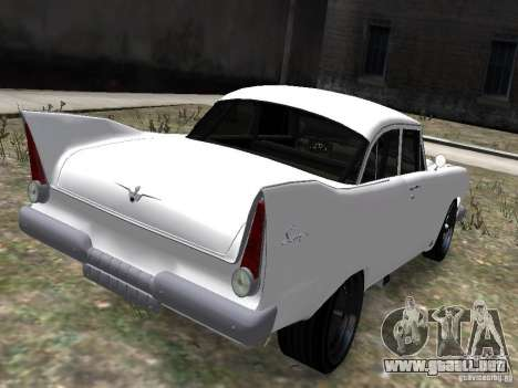 Plymouth Savoy 57 para GTA 4 Vista posterior izquierda