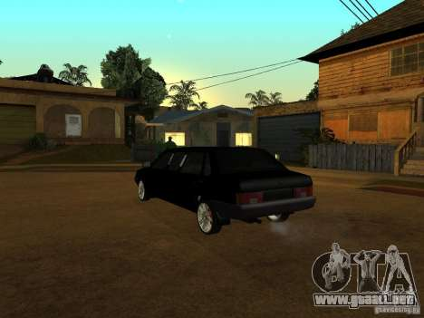 VAZ 21099 Limousine para GTA San Andreas vista hacia atrás