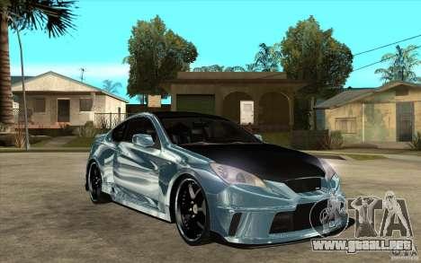 Hyundai Genesis Tuning para GTA San Andreas vista hacia atrás
