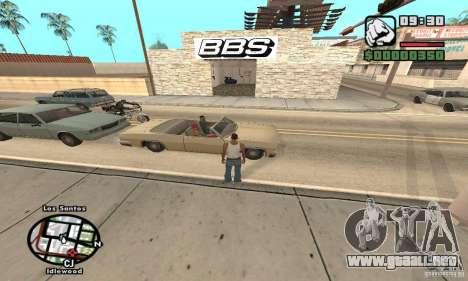 BBS PaynSpray para GTA San Andreas segunda pantalla