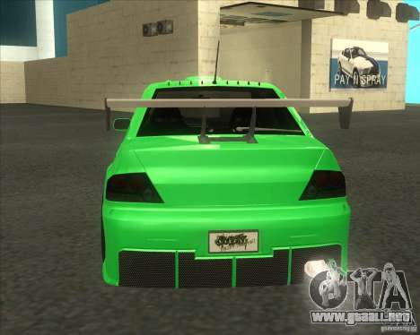 Mitsubishi Lancer Evo 9 Drift style para GTA San Andreas left