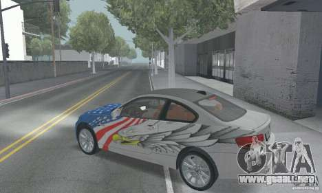 BMW M3 E92 Stock para la vista superior GTA San Andreas