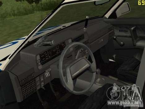 VAZ 21099 DPS para la visión correcta GTA San Andreas