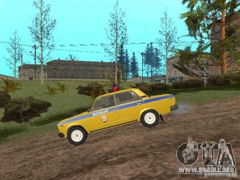 VAZ 2107 AUTO INSPECCIÓN para GTA San Andreas left