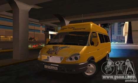 Minibús Gazelle 2705 para GTA San Andreas
