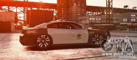 Dodge Charger 2011 Police para GTA 4 left