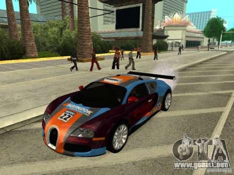 Bugatti Veyron para la visión correcta GTA San Andreas