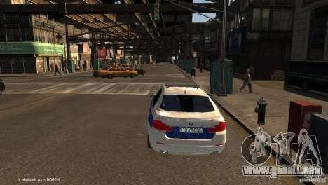 BMW 550i Azeri Police YPX para GTA 4 Vista posterior izquierda