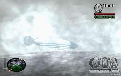 Dirigible grande para la visión correcta GTA San Andreas