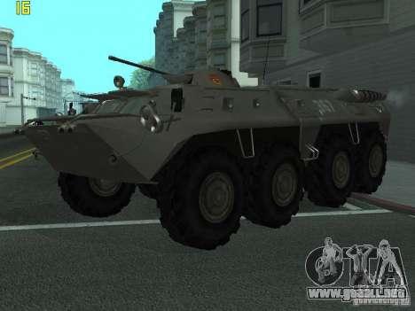 BTR-80 para GTA San Andreas vista hacia atrás