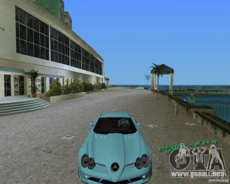 Mercedess Benz SLR Maclaren para GTA Vice City vista lateral izquierdo