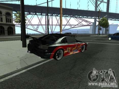 Nissan S15 vDragon para GTA San Andreas vista posterior izquierda