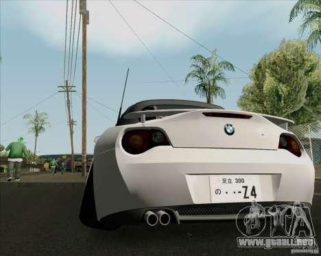 BMW Z4 Hellaflush para la visión correcta GTA San Andreas