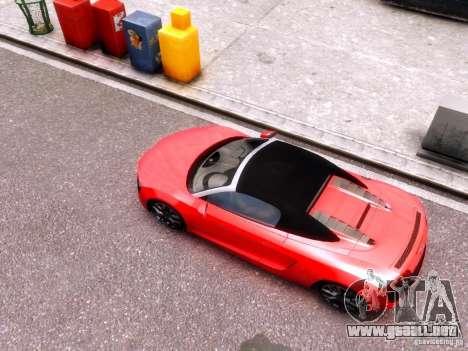 Audi R8 Spyder 5.2 FSI quattro V4 EPM para GTA 4 vista hacia atrás