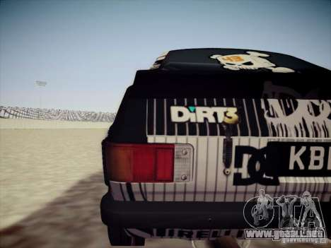 Ford Escort MK2 Gymkhana para la visión correcta GTA San Andreas