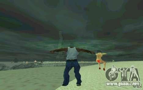 Las personas son capaces de nadar para GTA San Andreas sucesivamente de pantalla