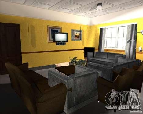 New Interior of CJs House para GTA San Andreas novena de pantalla