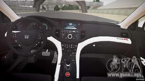 Honda Accord Type R NYPD (City Patrol 1090) ELS para GTA 4 vista superior